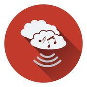 Music cloud icon Stock Illustration