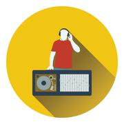 DJ icon Stock Illustration