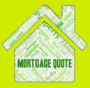 Mortgage Quote Showing Home Loan And Purchasing Piirros