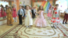 Children dancing, singing songs at a kindergarten - stock footage