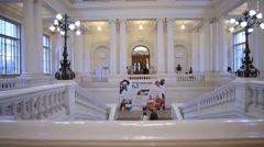 Interior of the Peter the Great Saint-Petersburg Polytechnic University Stock Footage