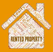 Rented Property Showing Real Estate And Office - stock illustration