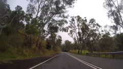 Adelaide, South Australia, vehicle POV driving through the Adelaide Hills alo Stock Footage