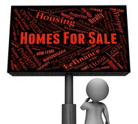 For Sale Meaning Property Residence And Homes - stock illustration