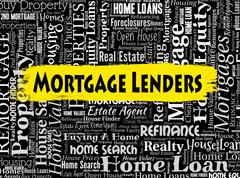 Mortgage Lenders Representing Home Loan And Houses Piirros