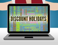 Discount Holidays Meaning Reduction Bargain And Save - stock illustration