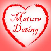 Mature Dating Indicating Date Dates And Elderly - stock illustration