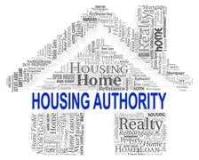Housing Authority Indicating Low Income And Assistance - stock illustration
