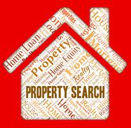 Property Search Meaning Apartments Searches And Residential - stock illustration