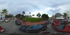 360 view of Miami Beach vr Stock Footage