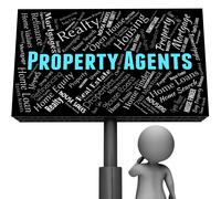 Property Agents Showing House Placard And Apartment - stock illustration