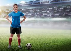 Female football player Kuvituskuvat