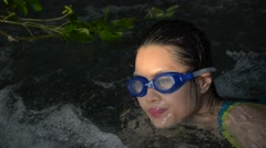 Asian Girl Swimming - stock footage