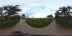 Miami Beach Atlantic walkway vr 360 spherical video - stock footage