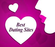 Best Dating Sites Representing Love Winners And Sweethearts Stock Illustration