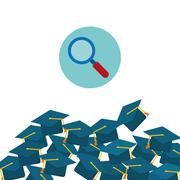 Education design. University icon. Colorfull and isolated illust - stock illustration