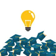 Education design. University icon. Colorfull and isolated illust Stock Illustration