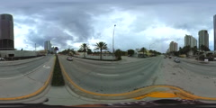 Spherical 360 Sunny Isles Beach Collins Ave Stock Footage