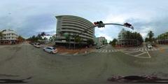 Spherical 360 vr video South Beach Ocean Drive Stock Footage