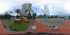 Spherical 360 Fontainebleau Miami Beach Stock Footage