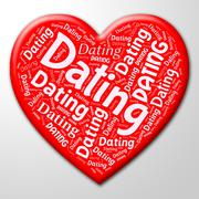 Dating Heart Indicating Sweethearts Online And Net - stock illustration