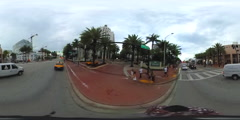 VR Street view Miami Beach Florida 360 spheric Stock Footage