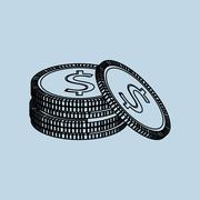 Financial item design. money icon. Flat illustration, vector graphic Stock Illustration