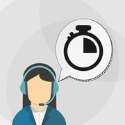 Call center design. Communication icon. flat illustration, vecto - stock illustration