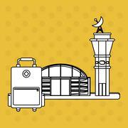 Airport design. travel icon. flat illustration, vector graphic - stock illustration