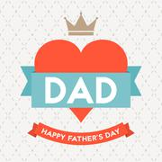 Happy father's day illustration vector template on argyle background - stock illustration