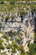 Blurred Ancient River Rocks In The Verdon Gorge In South-eastern - stock photo