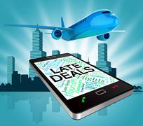 Late Deals Showing Last Moment And Aeroplane - stock illustration
