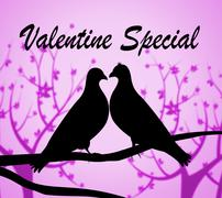 Valentine Special Meaning Valentines Day And Boyfriend - stock illustration