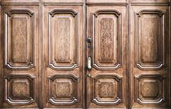 Freemasonry door entrance - stock photo