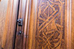 Freemasonry door entrance detail - stock photo