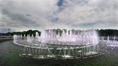 A Large Fountain In Moscow Stock Footage