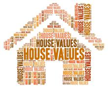 House Values Showing Current Prices And Houses - stock illustration