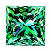Emerald Princess Over White Background Stock Illustration