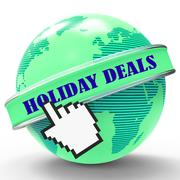 Holiday Deals Representing Bargains Discount And Discounts - stock illustration
