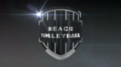 Beach Volleyball - Chrome, Seamless looping 3D animation - stock footage
