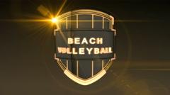 Beach Volleyball - Orange, Seamless looping 3D animation - stock footage