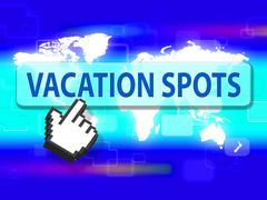 Vacation Spots Indicating Places Place And Destinations - stock illustration