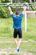 Strong young athlete Stock Photos