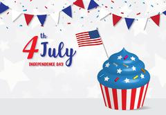 Independence Day 4 th July celebration - stock illustration