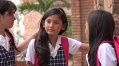 Child Friends Talking At School Stock Footage