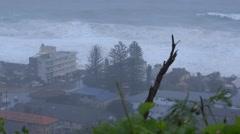 Collaroy Narrabeen beach Sydney huge waves damage property Stock Footage