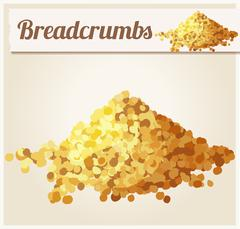 Bread crumbs. Detailed Vector Icon - stock illustration