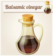 Balsamic vinegar. Detailed Vector Icon - stock illustration