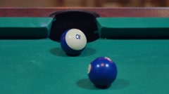 Pool Game - Ball Potted in Corner Pocket Stock Footage