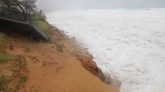 Global warming rising seas, Collaroy beach dunes washed away - stock footage